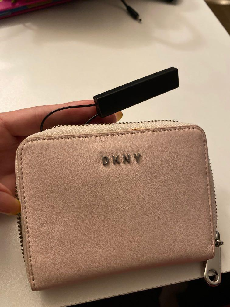 DKNY light pink leather wallet