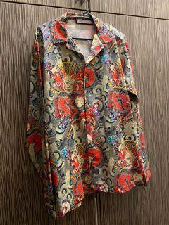 Dragon Print Blouse (Japanese Style)