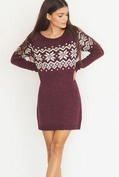 Garage maroon sweater dress