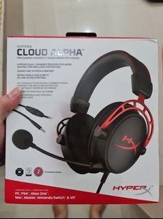 Headphone Hyper X Cloud Alpha  + Sound Card Hyper X Cloud 2