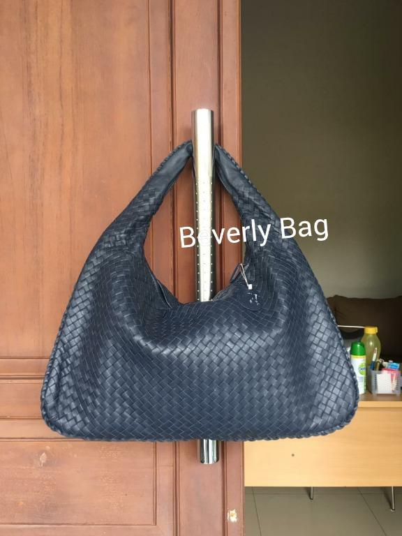JUAL TAS BAG BTG VENETA LEATHER MIRROR QUALITY - NAVY BLUE