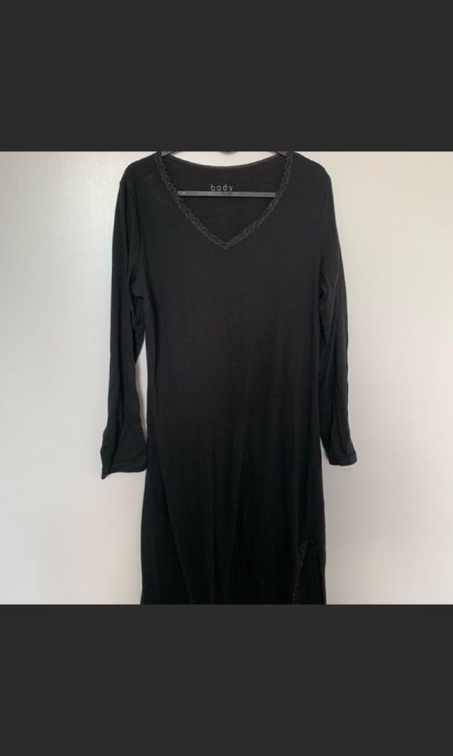 Long cotton pajama dress