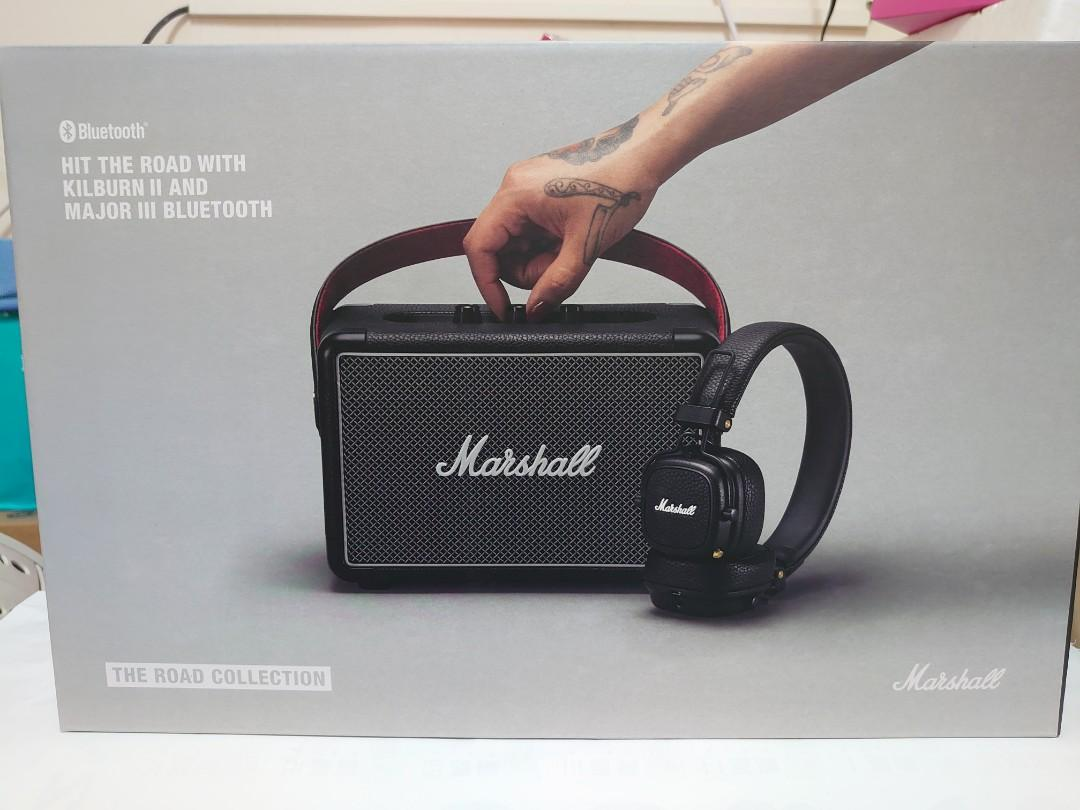 【兔兔雜貨舖】Marshall Kilburn II + Major III 黑色 藍牙 耳機 喇叭 優惠組合