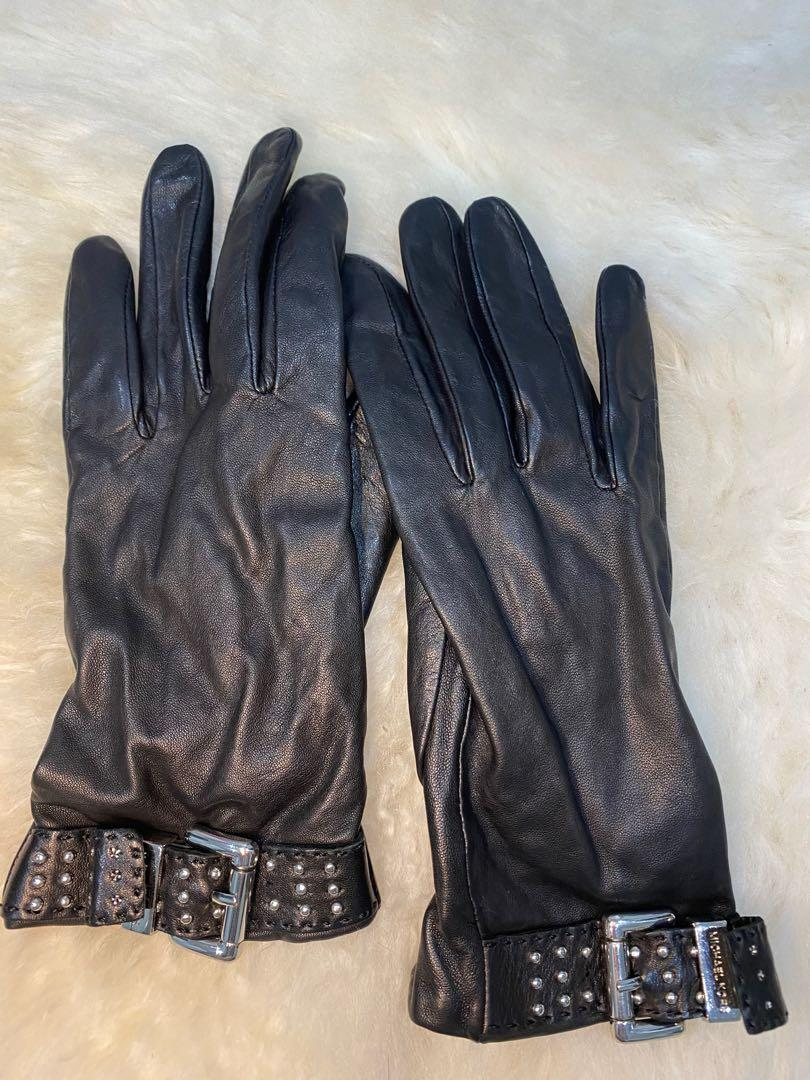 Michael Kors womens leather gloves size small