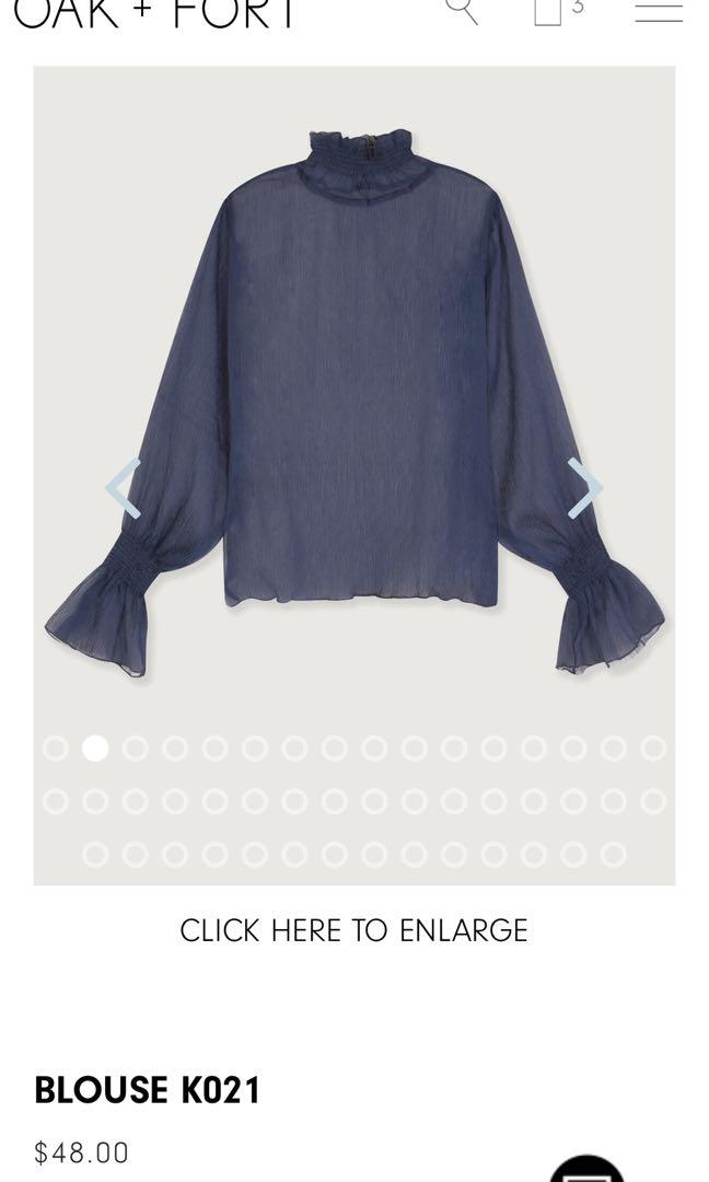 Oak & fort blouse blue