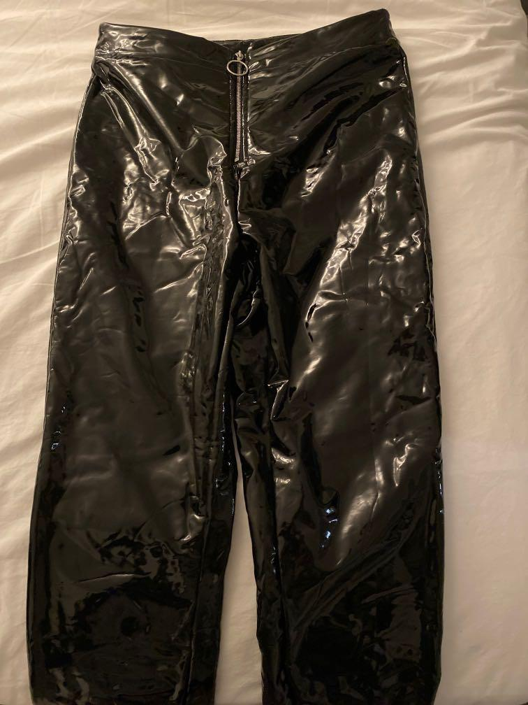 shein faux leather pants