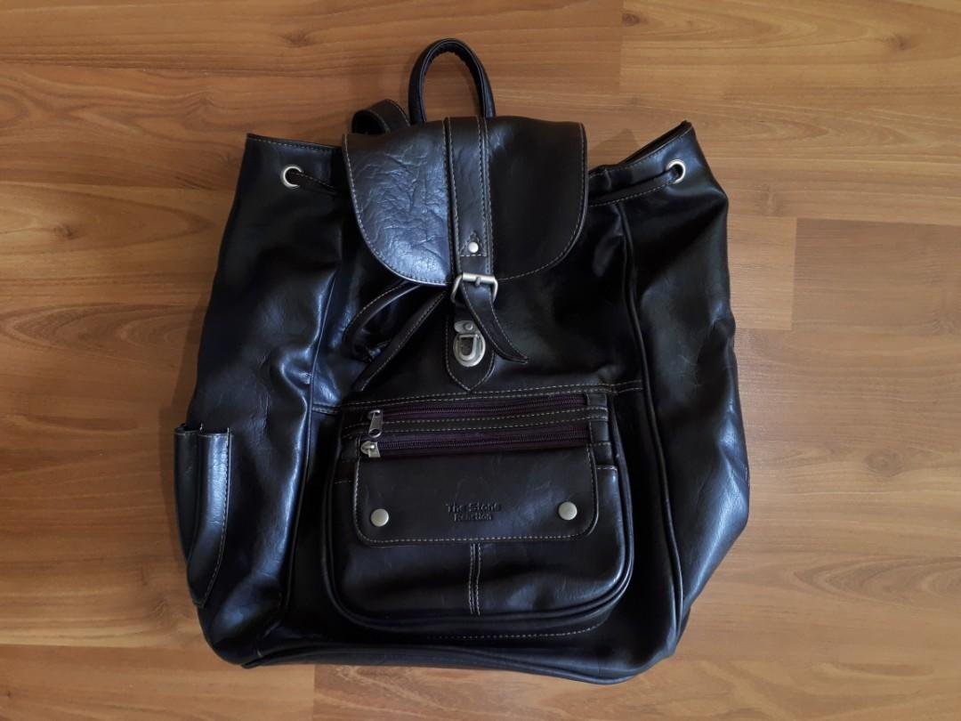 The Stone Reaction Faux Leather Backpack