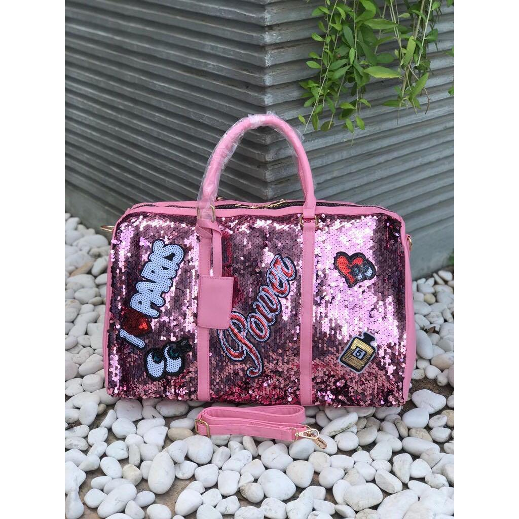 Travel bag sequin