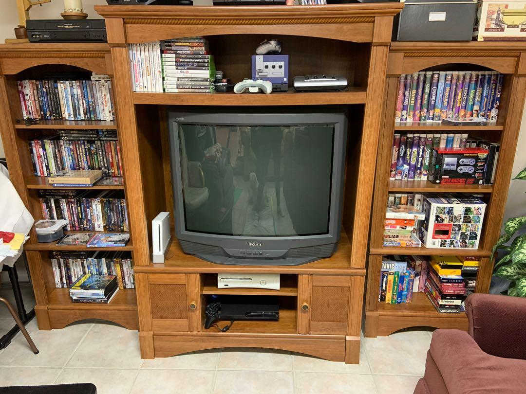 TV stand and book cases