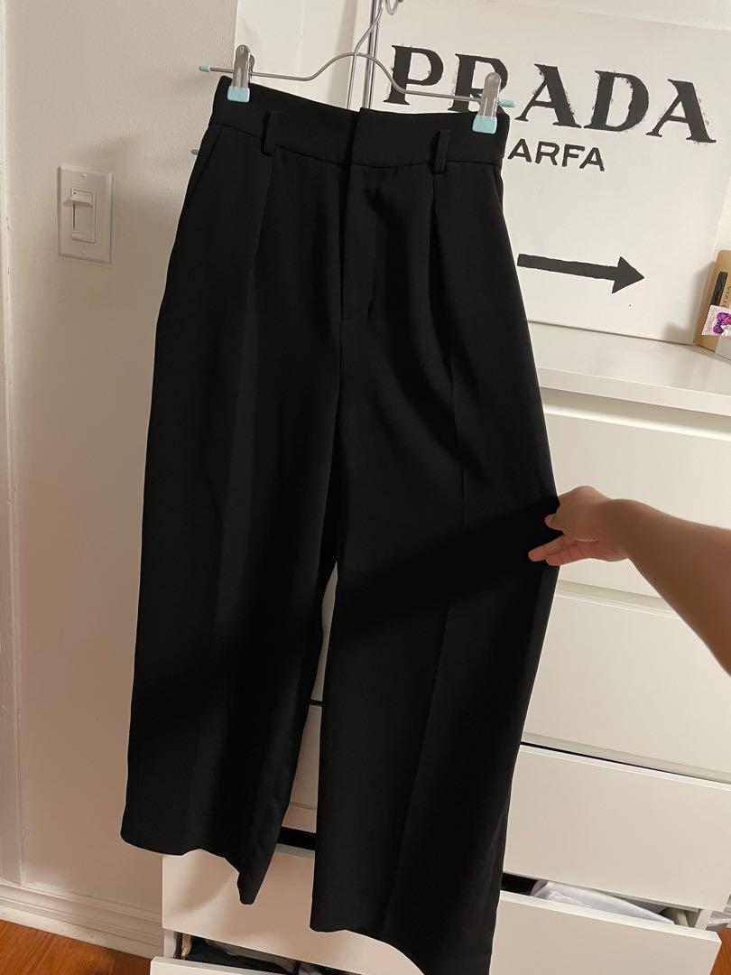 UNIQLO HIGH WAISTED WIDE LEG TROUSERS