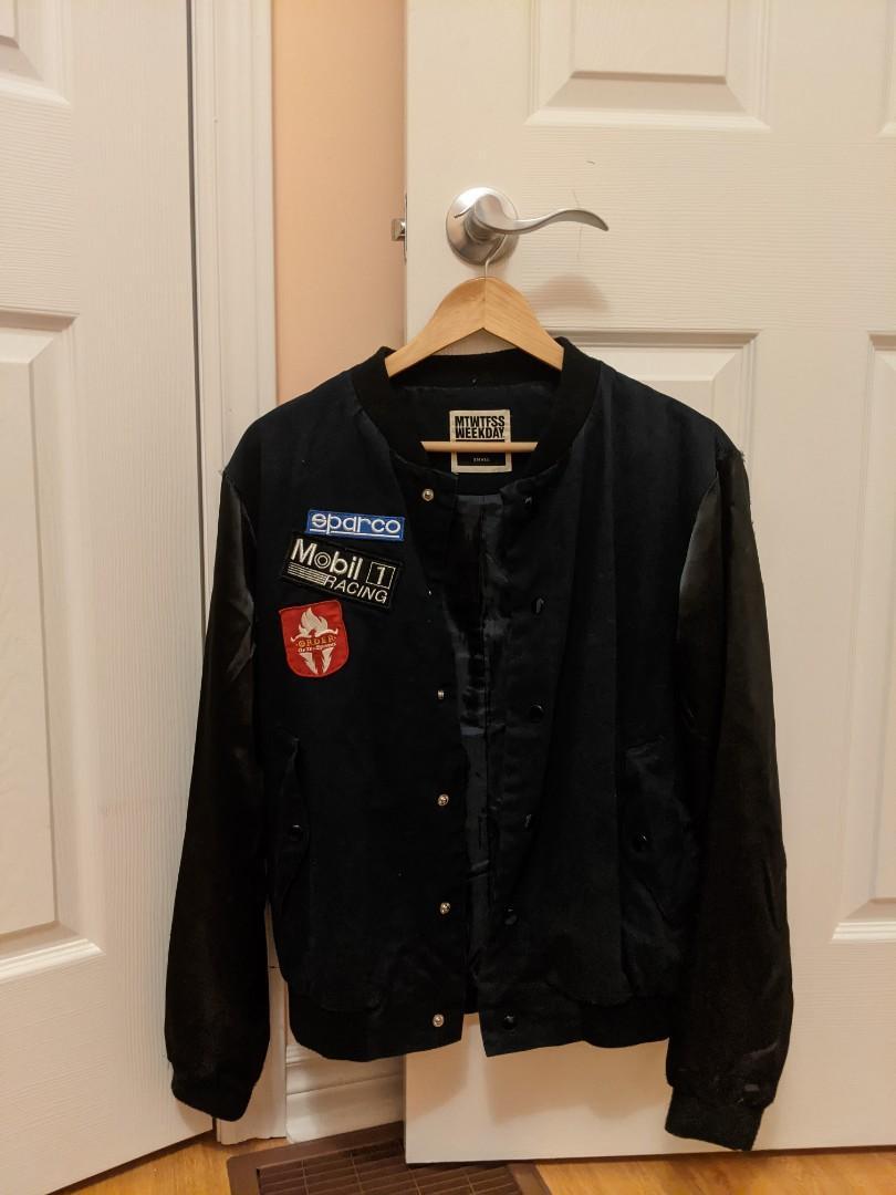 Varsity bomber w/ patches