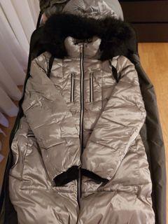 William rast silver winter coat size M