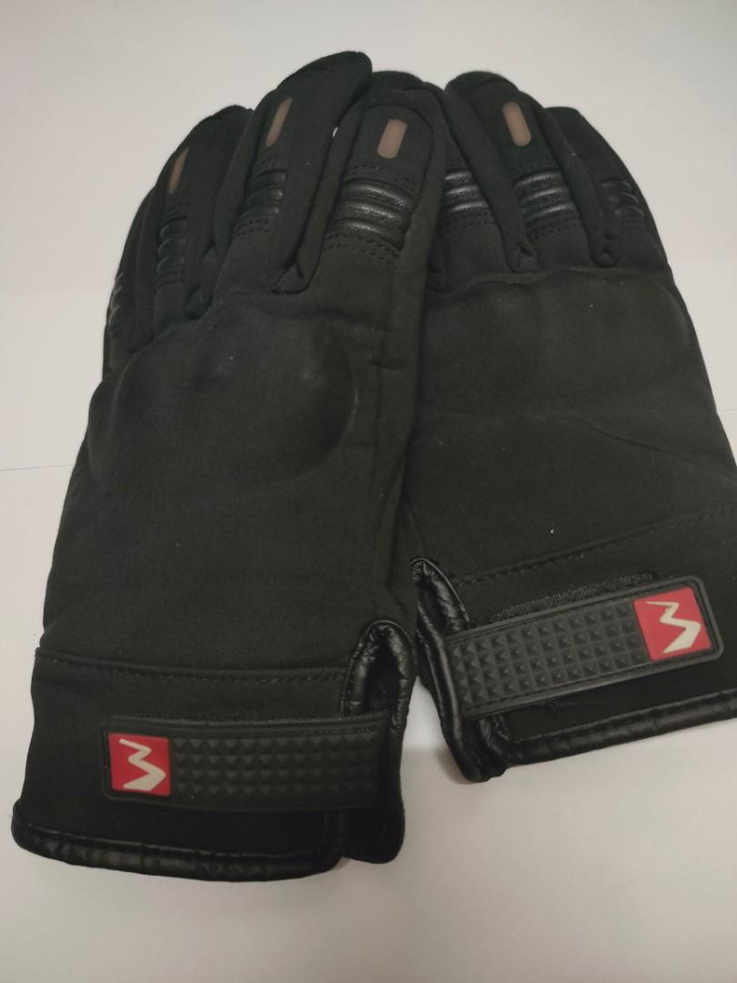 防摔/防風/ 防潑水 黑色手套