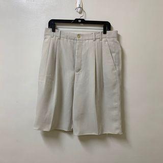 古著 米白色 西裝短褲