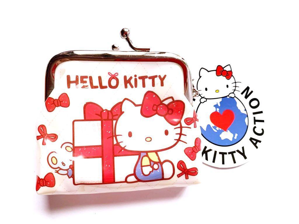 日貨 Kitty 防水雙珠扣式零錢包