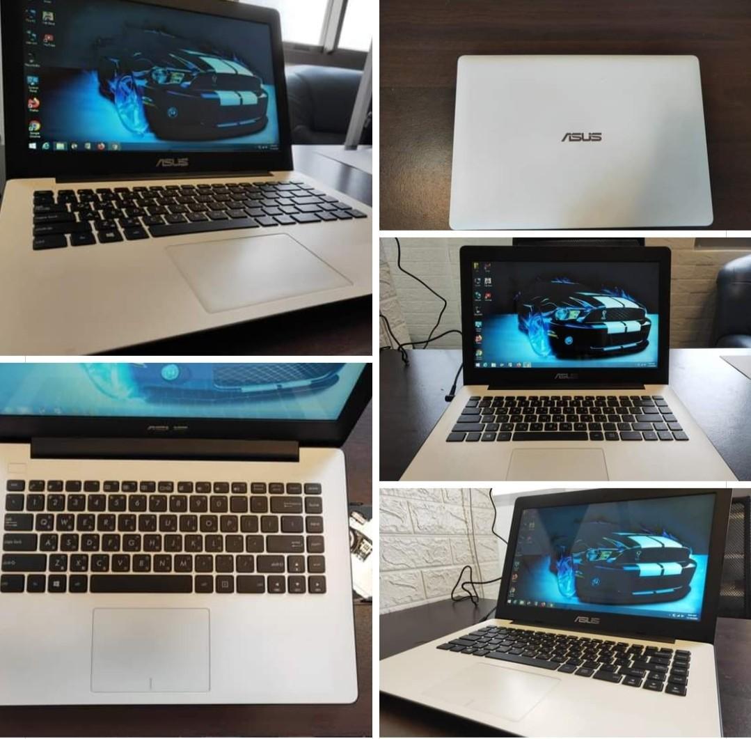 Asus/White color/14inchs/4Gb Ram/500Gb internal hdd/Thin laptop/English language settings laptop