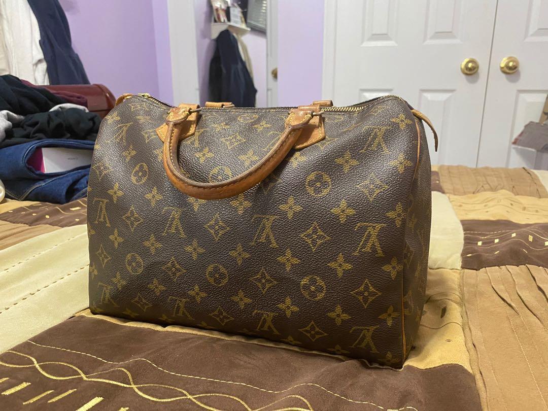 Authentic Louis Vuitton Speedy 30 Handbag Monogram