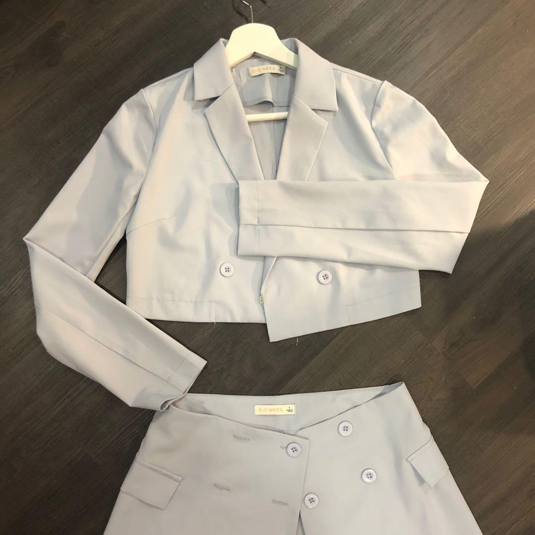 Baby Blue Skirt Set