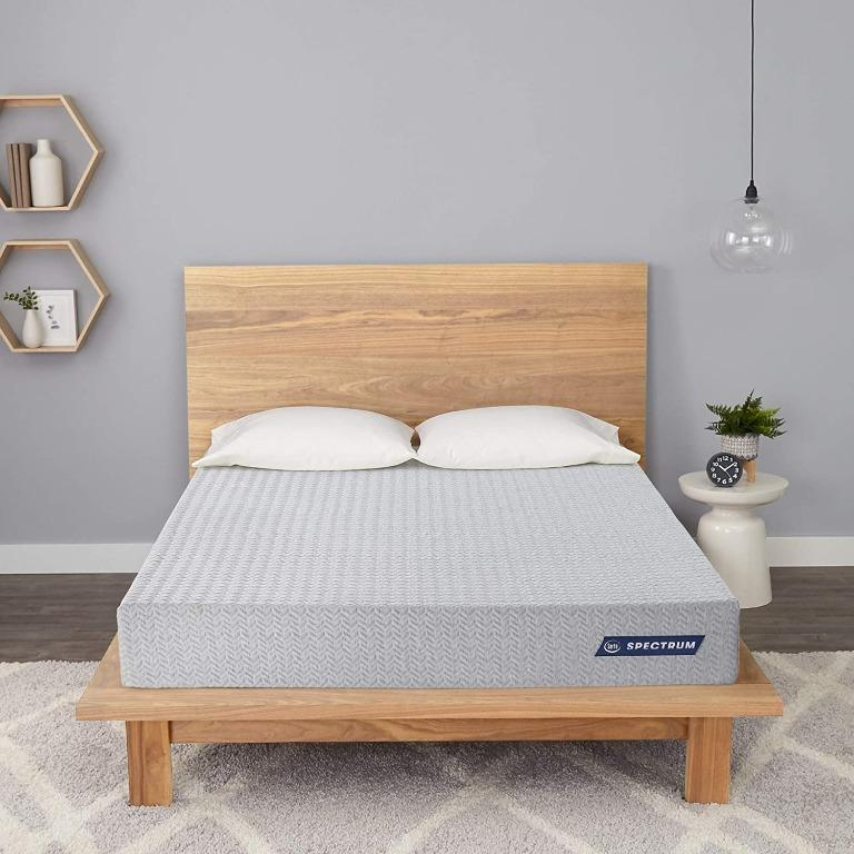 "BNIB Serta Spectrum 8"" Mattress - Medium, Grey, Queen"