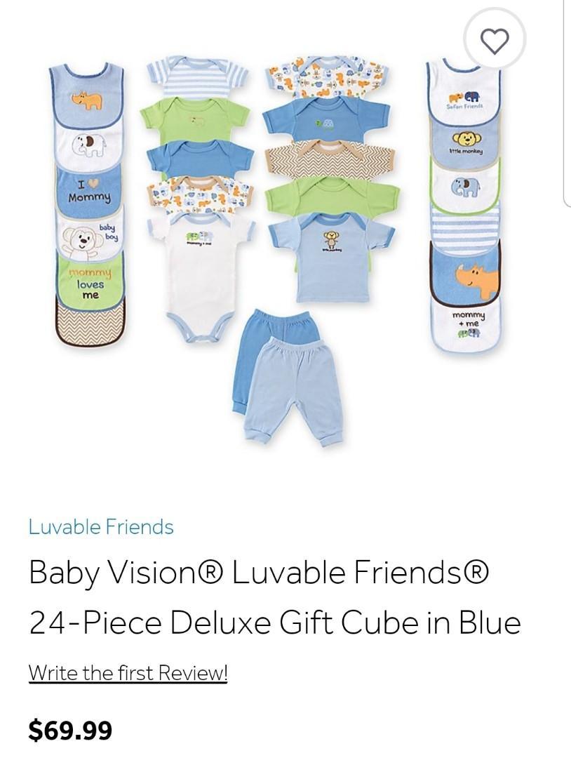 BNIP 24 piece deluxe baby boy gift cube