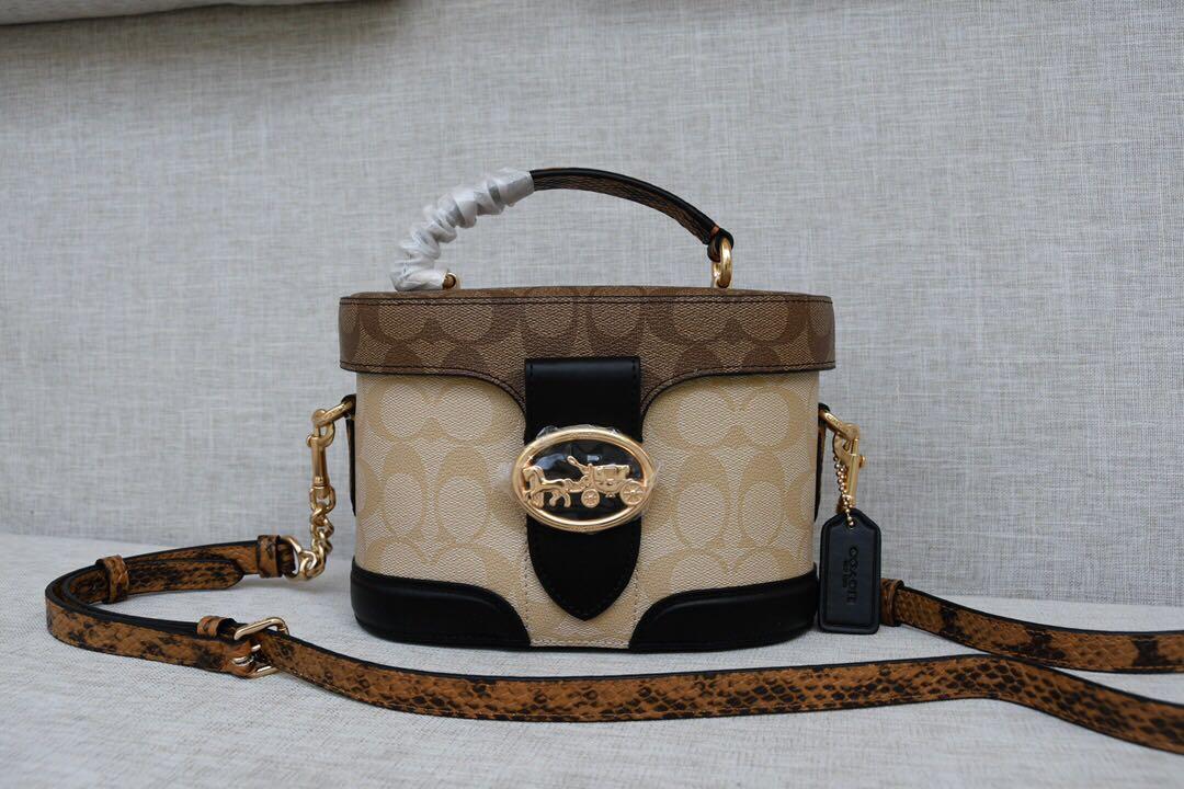 COACH 2020 新款 5504 女士單肩斜跨提手包 經典印花化妝包 超級時尚