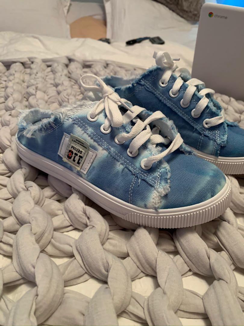 Custom slip on canvas shoes