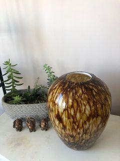 Decorative Large Tiger Print Vase