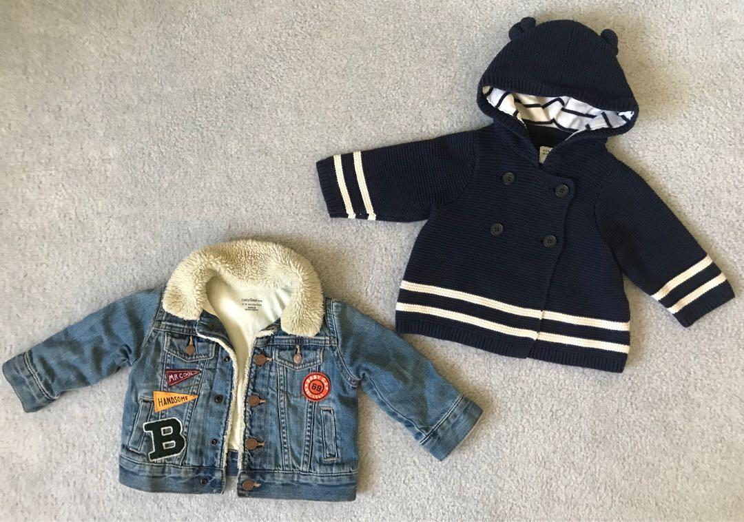 EUC Baby Gap denim jacket / Brannan Bear Sweater (3-6m) (6-12m)