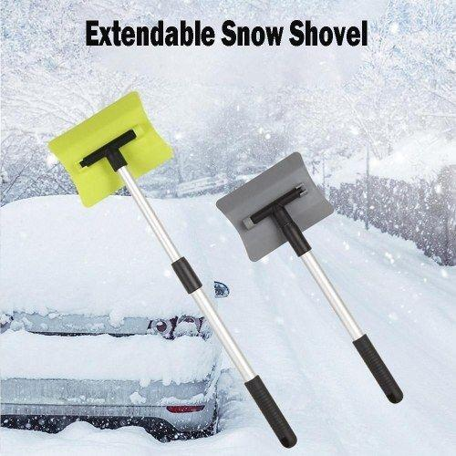 Extendable Snow Shovel Ice Scraper Snow Brush 180 Degree Rotating for Car Auto SUV Frost Windshield Cleaner Winter Tool