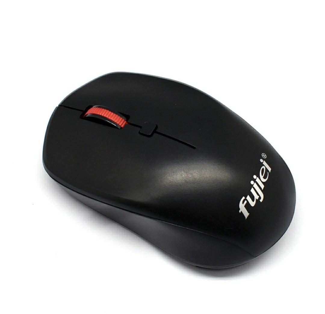 fujiei藍京無線滑鼠2.4G WIRELESS MOUSE隨插即用 靜音按鍵 1600dpi 電腦滑鼠週邊