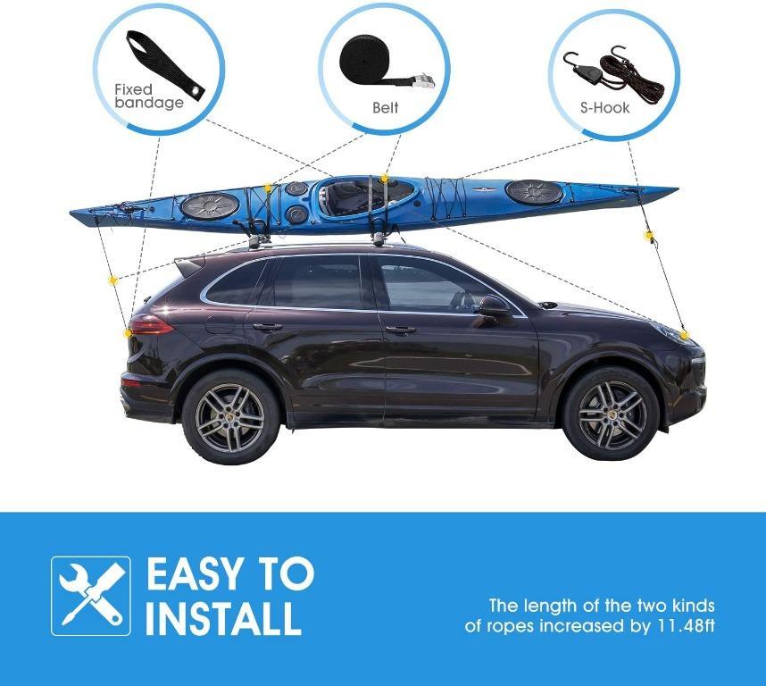 J-bar Kayak roof Rack, Universal Rack Carrier 2 Pairs