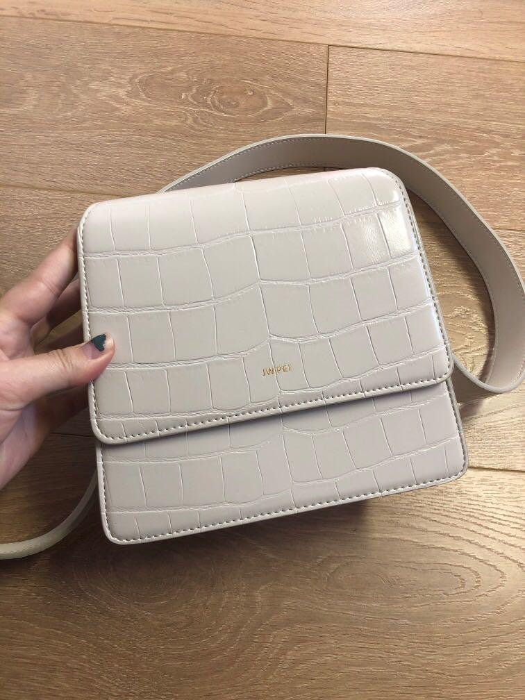 JW PEI Top handle bag in ivory croc