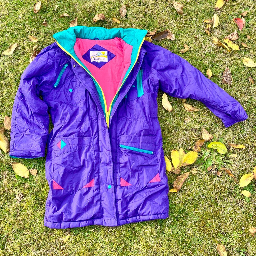 Korea Long Purple Winter Decora Functional Snow Jacket