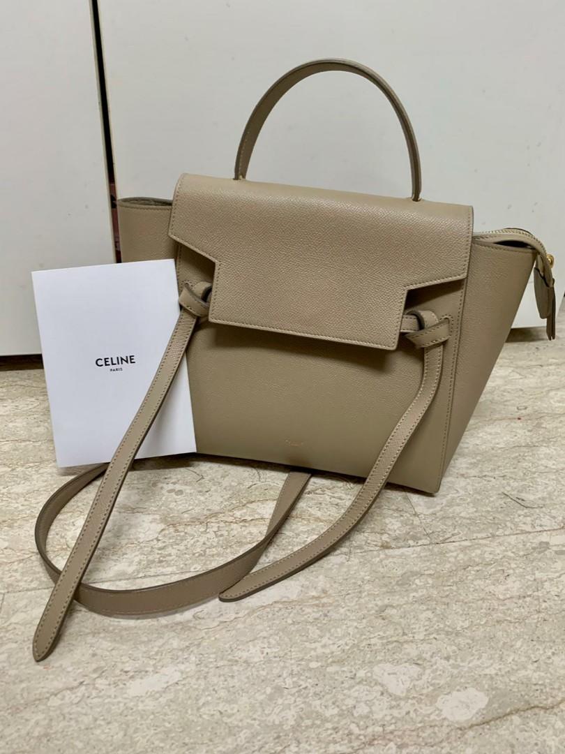 Like New Celine Micro Belt Bag In Grained Calfskin Luxury Bags Wallets Handbags On Carousell
