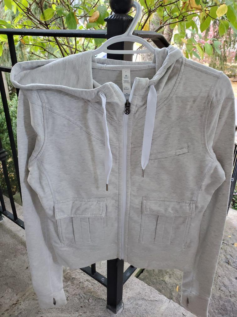 Lululemon zip up sweater (light grey)