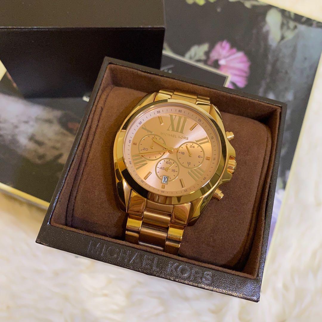 百貨公司專櫃正品Michael Kors玫瑰金手錶