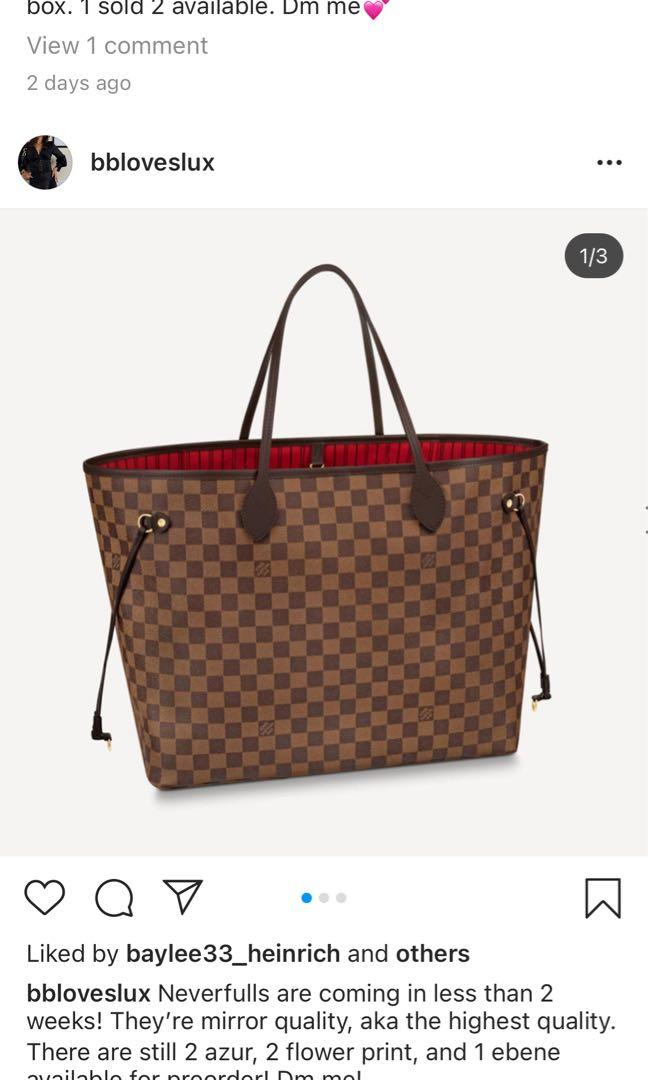 Neverfulls Louis Vuitton replica