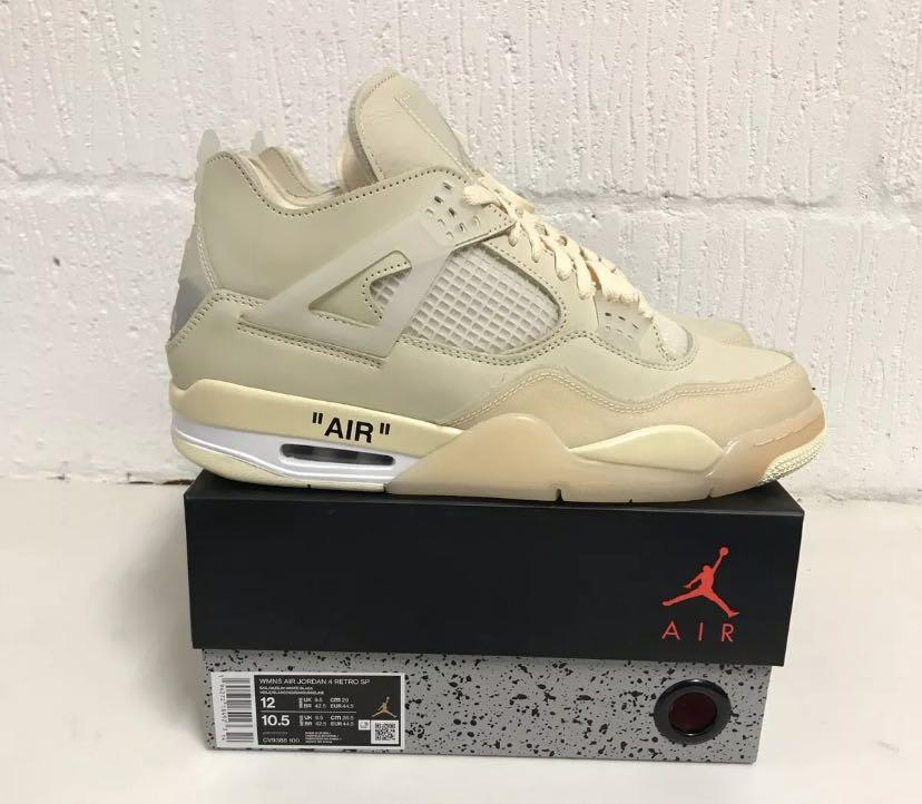 Off white Jordan 4 sails