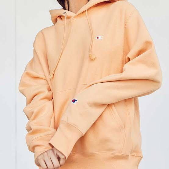 Perfect condition peach coloured champion hoodie
