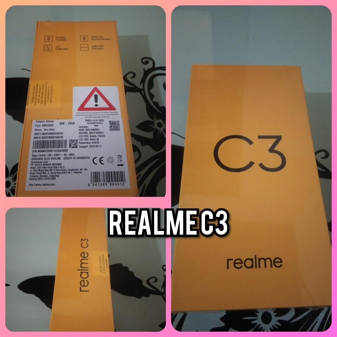 REALME C3 RAM 3GB / 32GB  #BU #BARU #FREEONGKIR #nov10