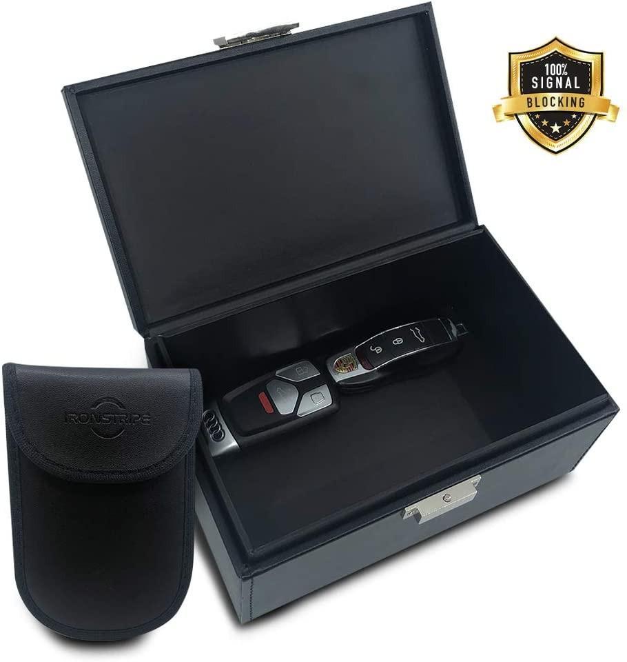 Keyless Car Key Signal Blocker Faraday Box Anti Thief Safe RFID Blocking Pouch