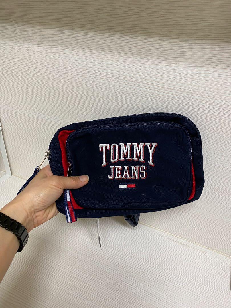 全新加拿大🇨🇦帶回Tommy hilfiger刺繡LOGO腰包 胸包 肩背包斜背包