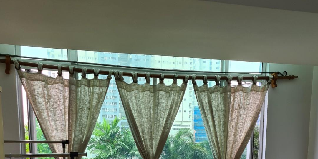 Used Curtain Rods For Furniture, 7ft Curtain Pole