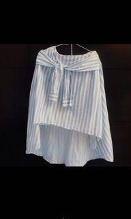 Zara前短後長綁腰造型裙