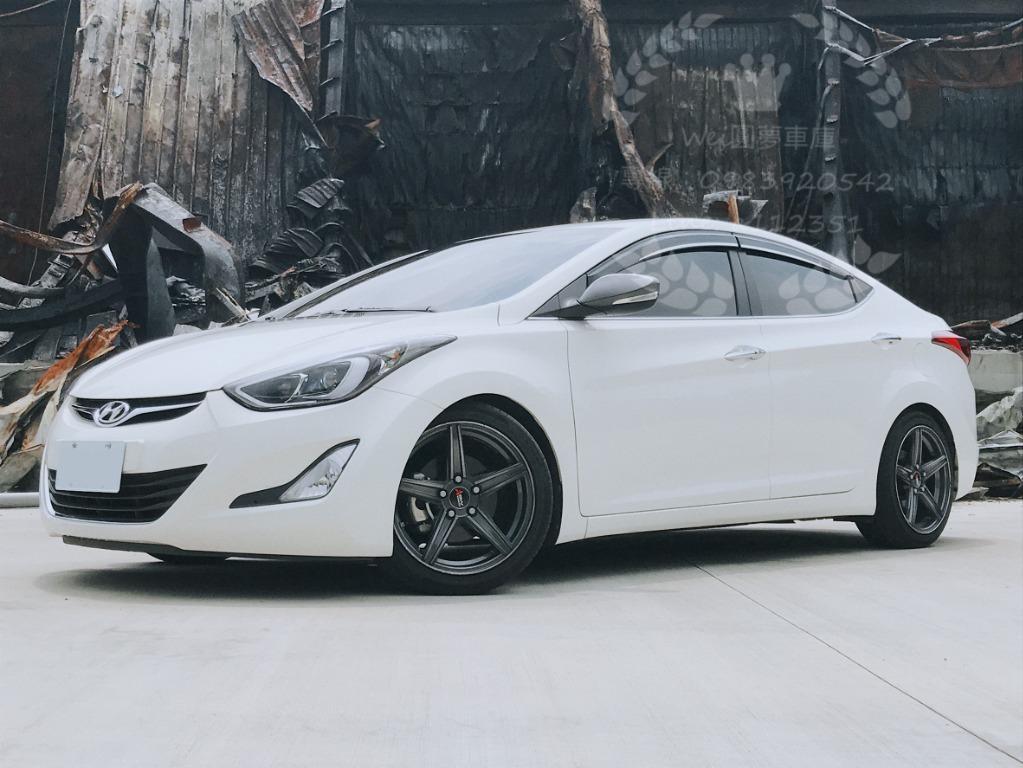 免頭款 全額貸 超額貸 2012年 現代ELANTRA 1.8 白 車換車