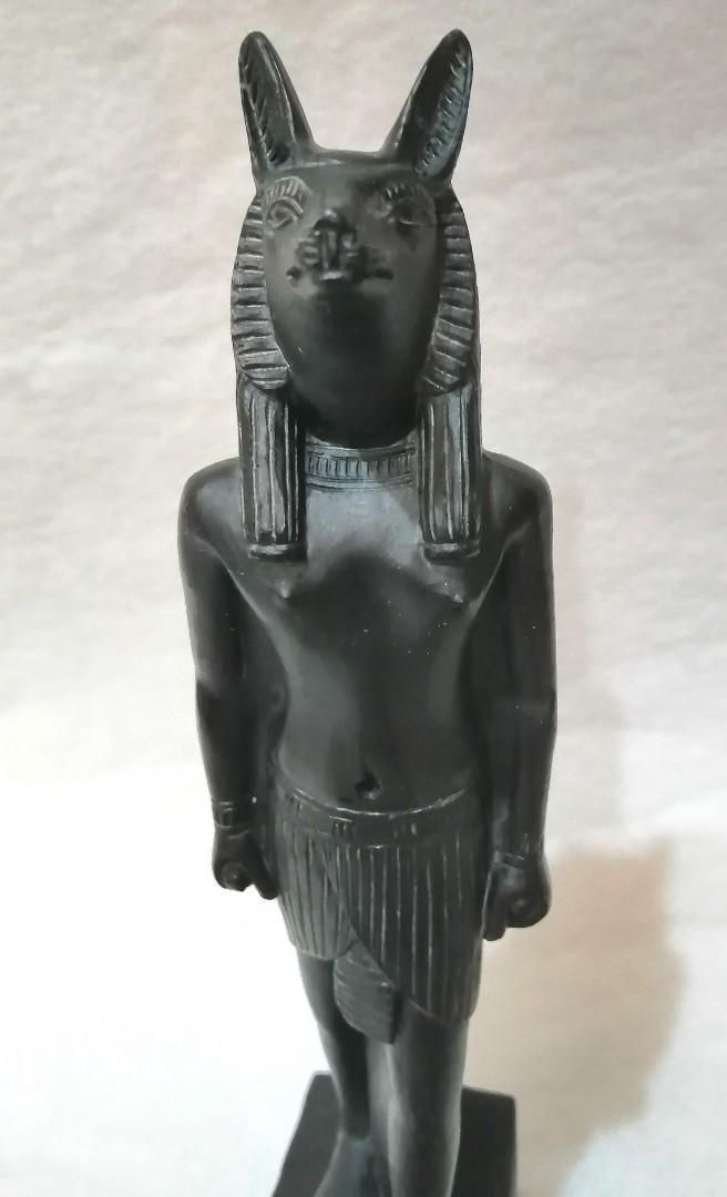 古埃及 神話 阿比努斯 神像 老古董 雕像