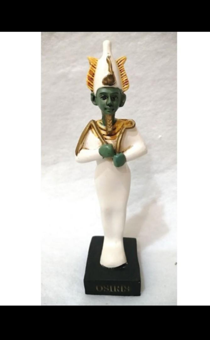古埃及 神話 冥王 奧里西斯 神像 老古董 雕像