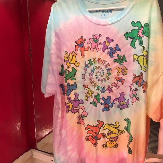 🌈 EXTREMELY colourful oversized grateful dead bears shirt 🌈