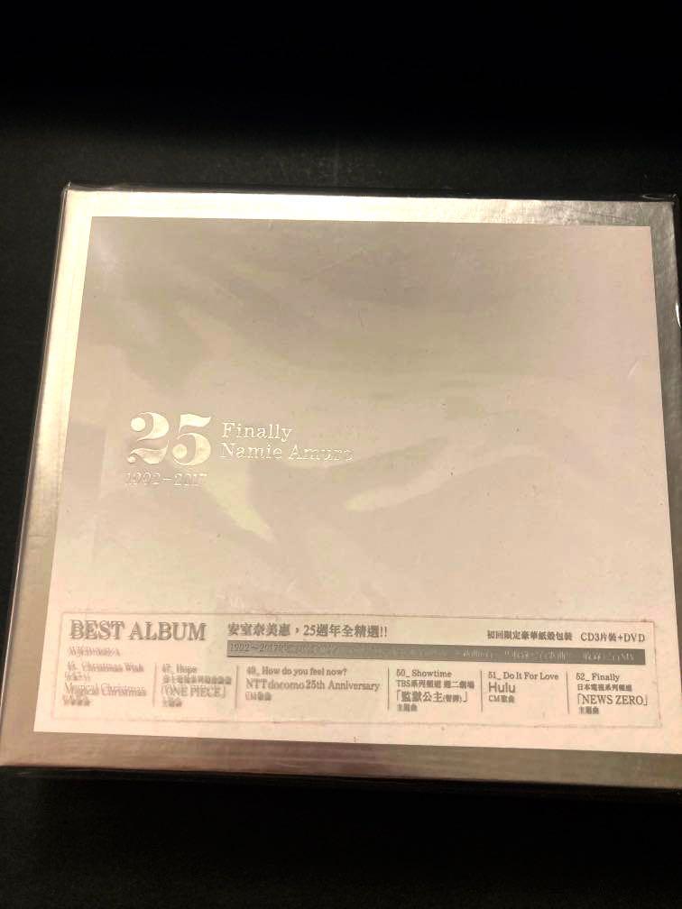 全新 安室奈美惠 Finally 1992-2017 25週年 演唱會3CD+DVD全精選 全新