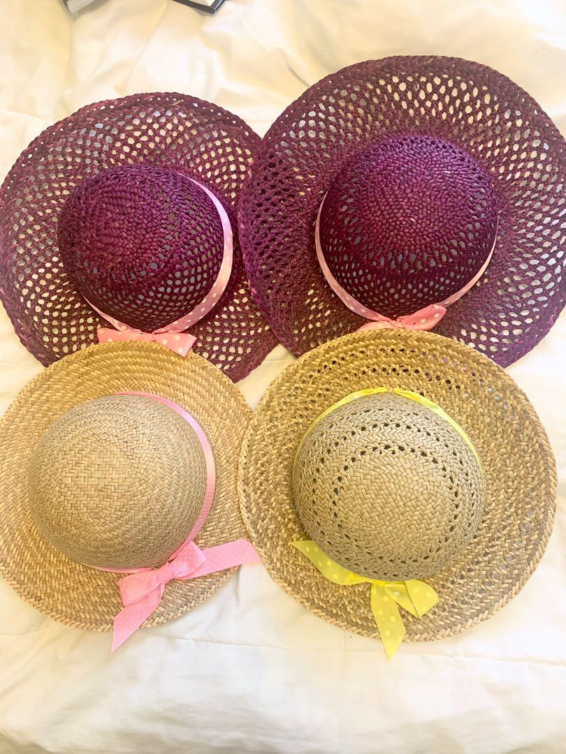 Assorted straw hats- $1